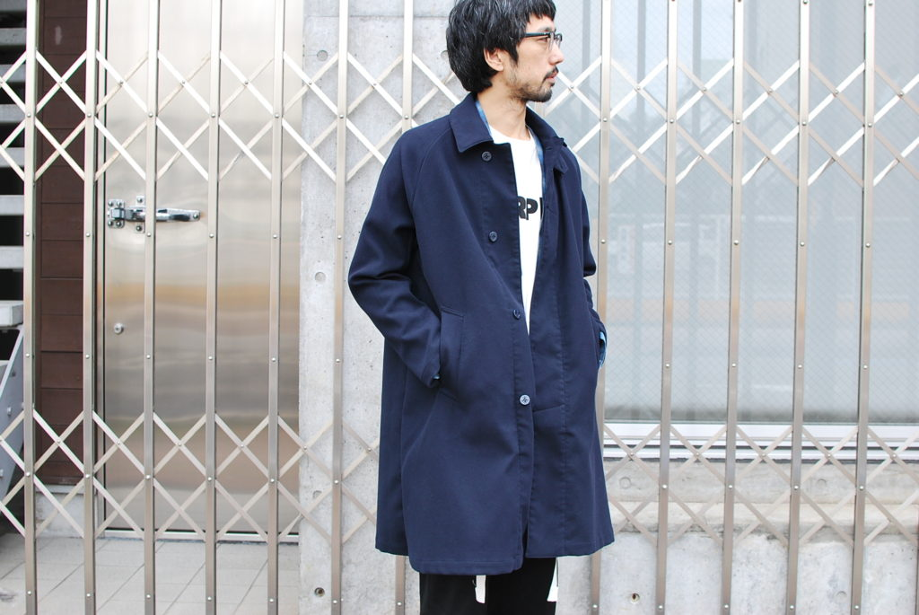 REMI RELIEF POLYESTER MELTON COAT.